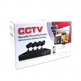 Bewakingssysteem CCTV-ECH7004-4 set.