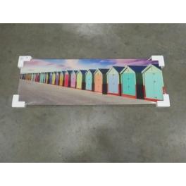 Glasdecoratie strandhuisjes